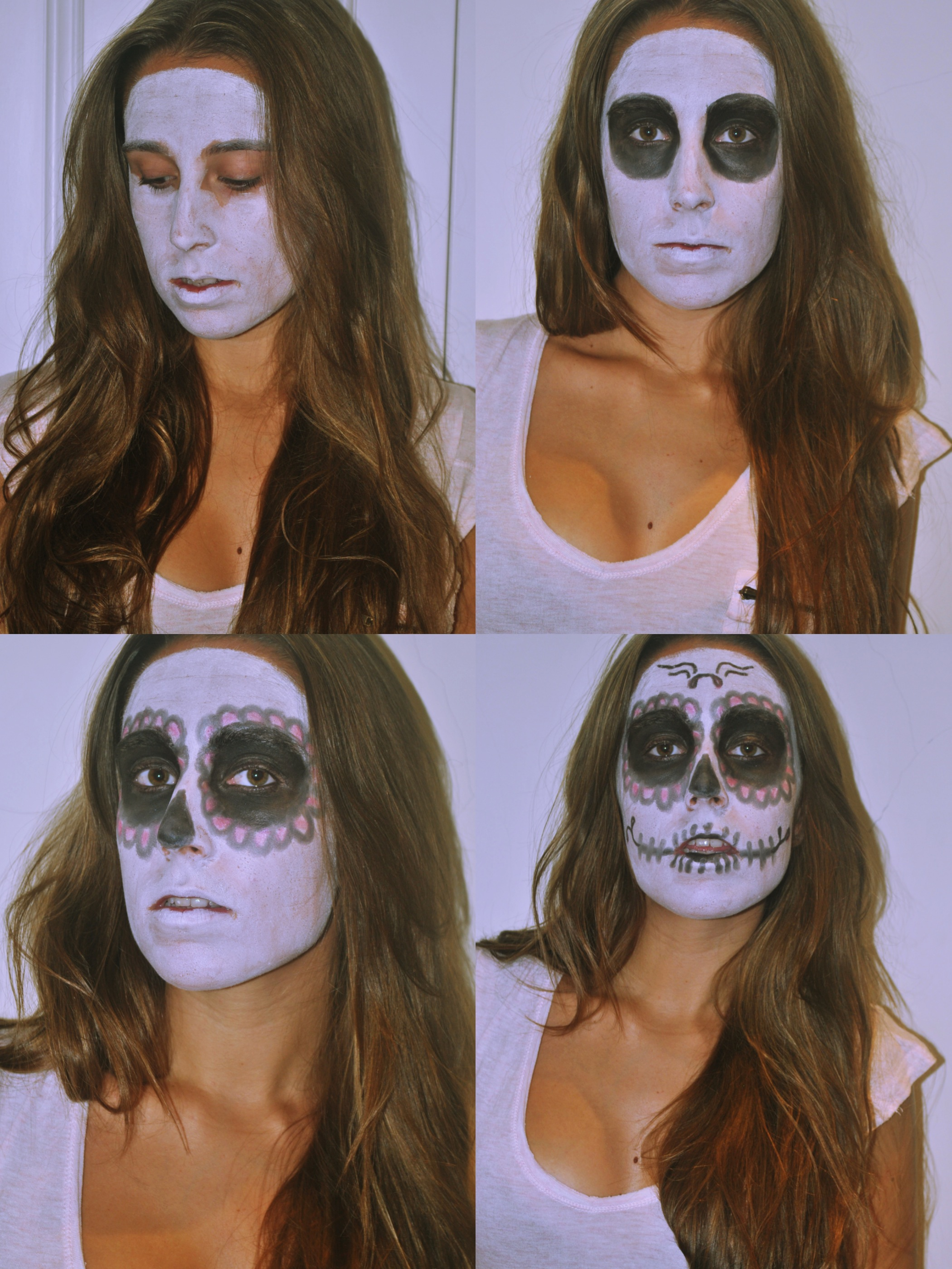 This first costume is super easy to do. I really like mexican catrinas and sugar skulls, I find them very cool and pretty. The outfit is pretty simple!