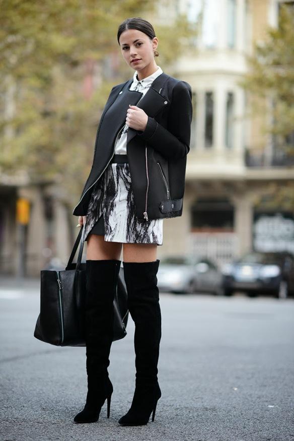 zara skirt, zina charkoplia, high boots, elegant, chic, blogger, brand, fashionvibe