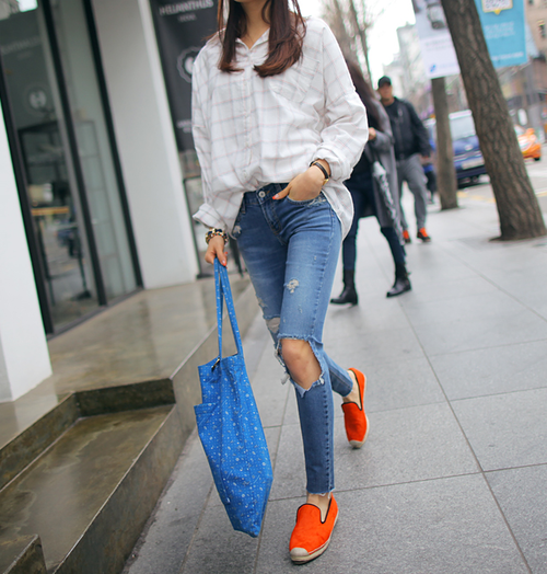 orange espadrilles