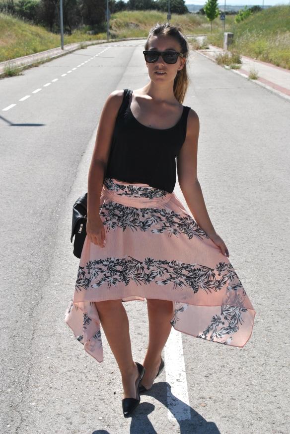 flawy midi skirt