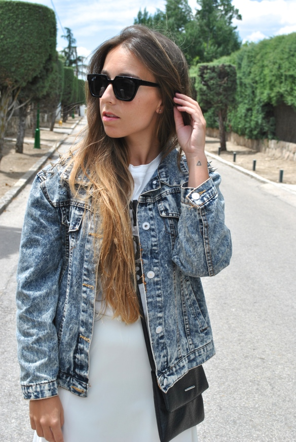 spiked denim jacket