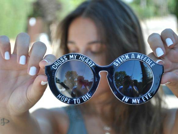 print round sunglasses