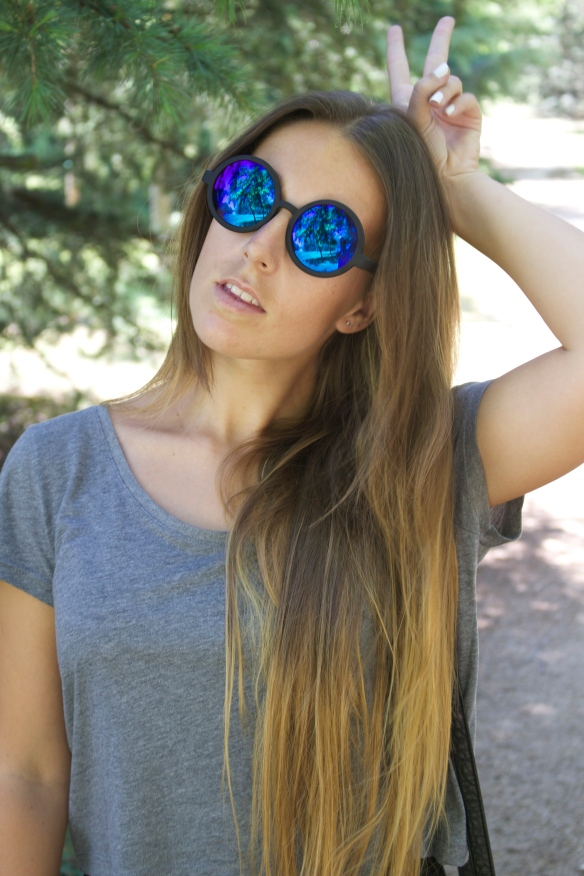 gafas de sol espejo redonadas