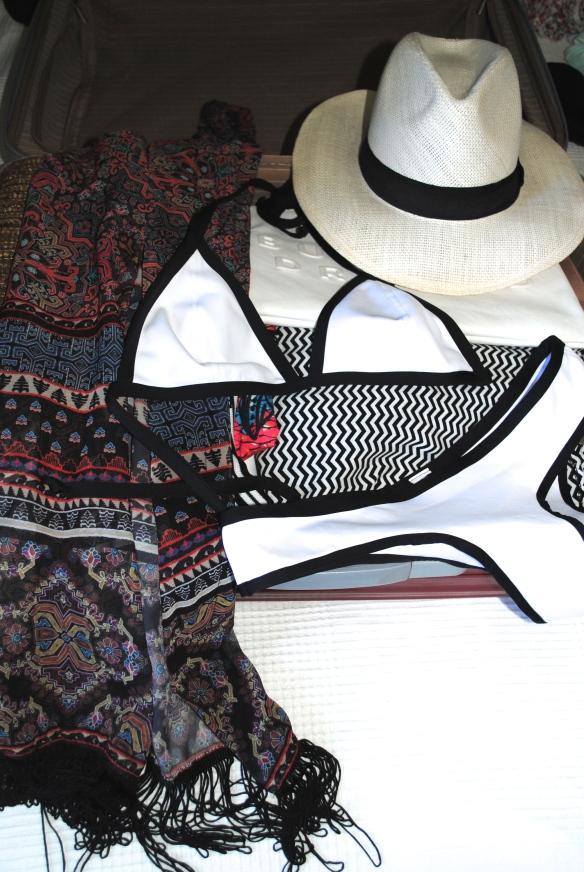 panama hat and kimono