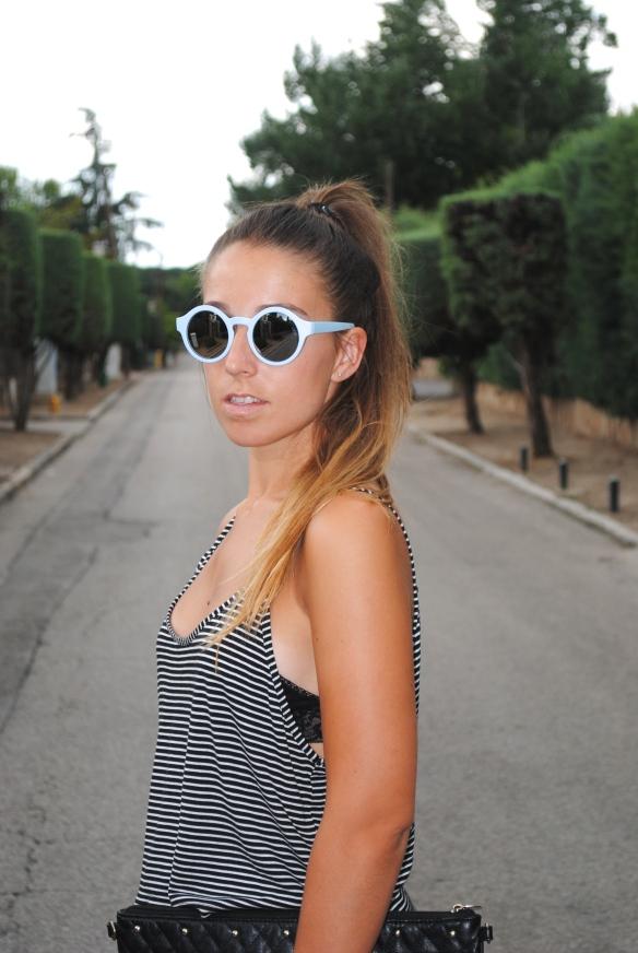 pastel blue sunglasses