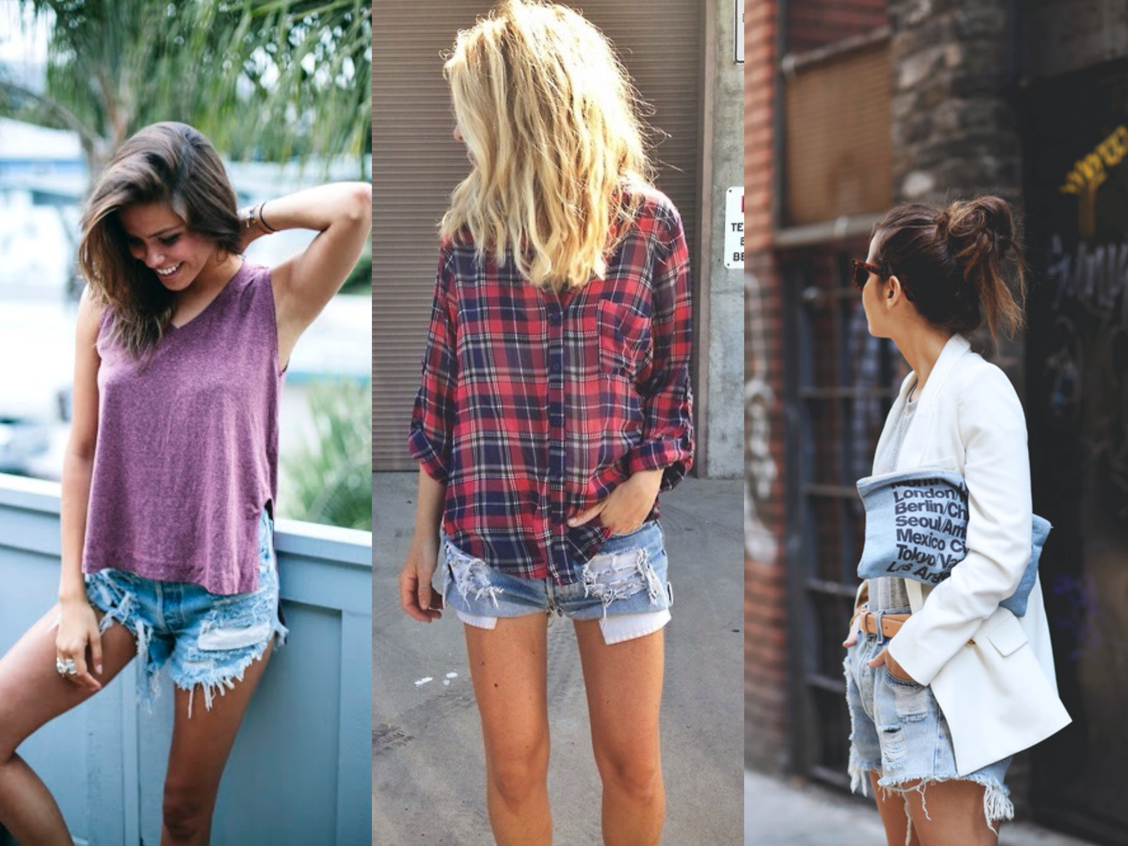 ripped shorts streetstyle