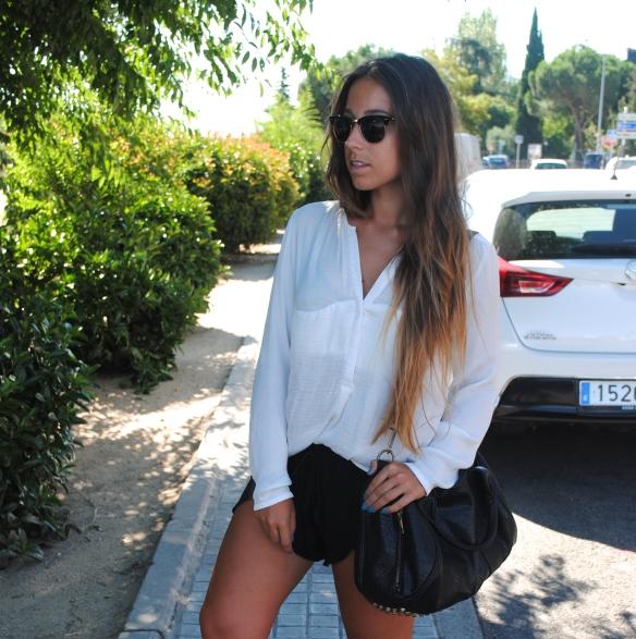 silky shorts and shirt