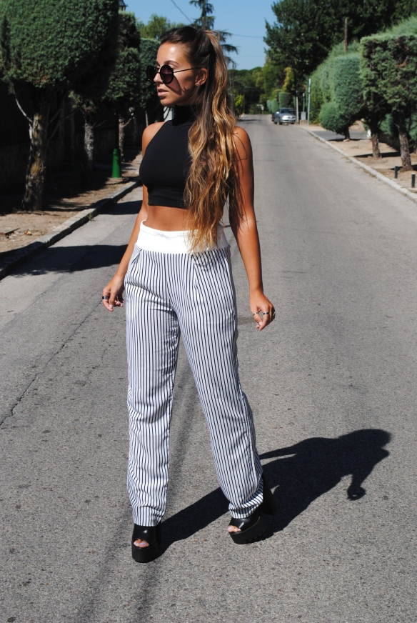 baggy stripped pants