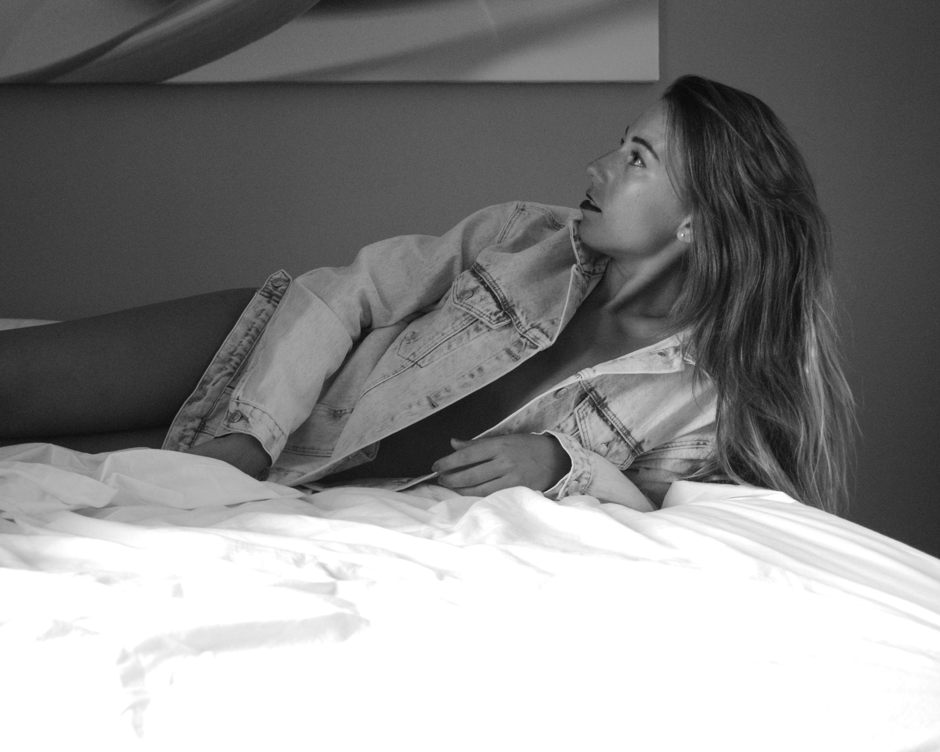 sesión de fotos blanco y negro