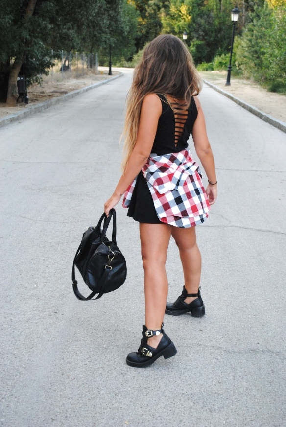 studded bag look