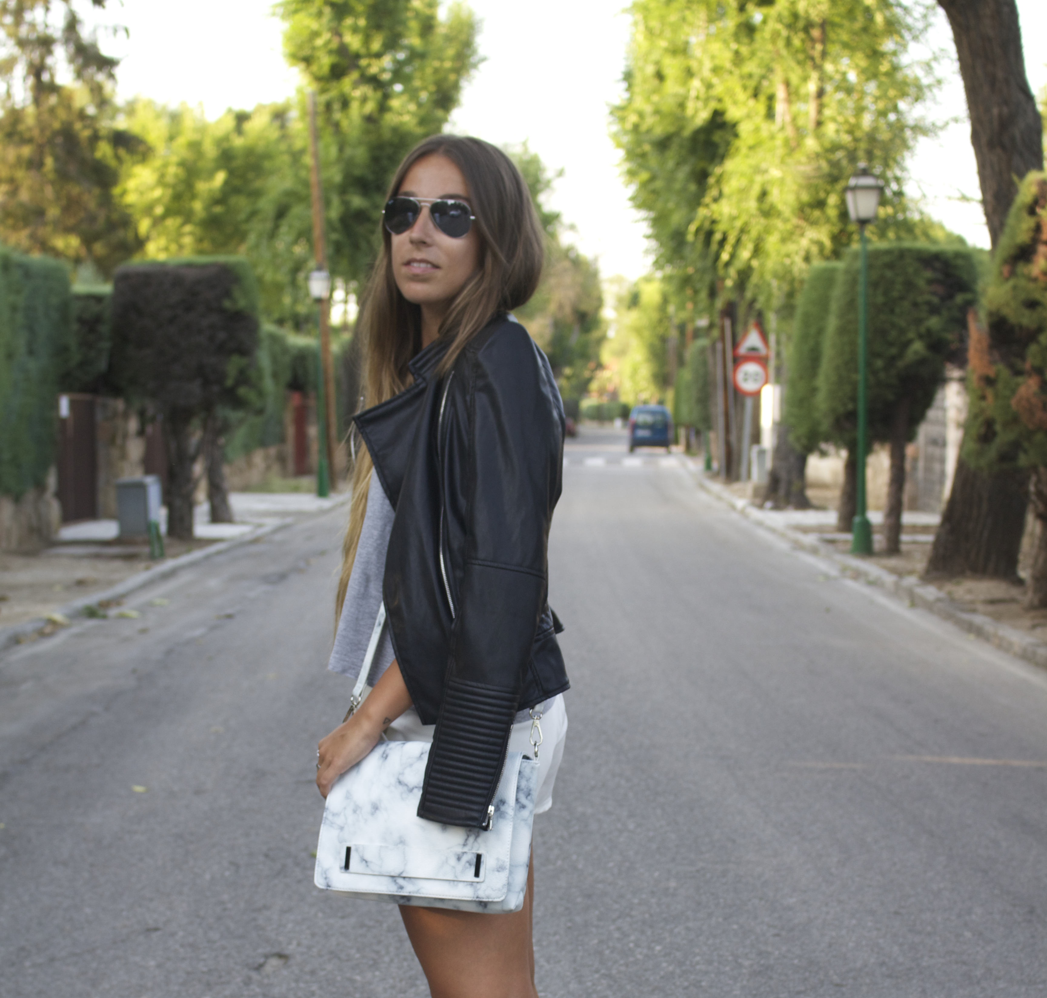 marble print outfit