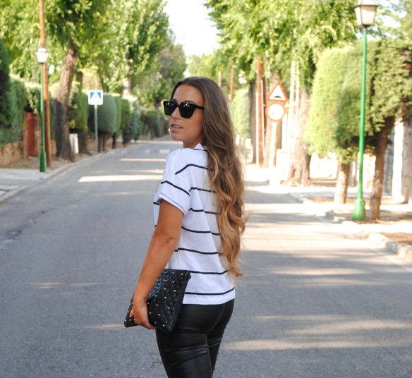 stripes and leather look
