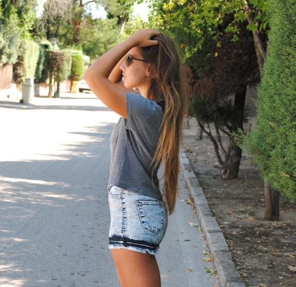 shorts vaqueros cintura alta