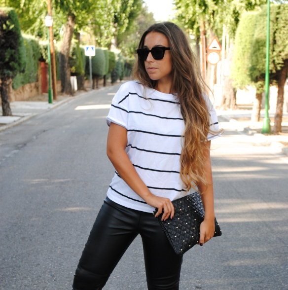 monochrome summer outfit