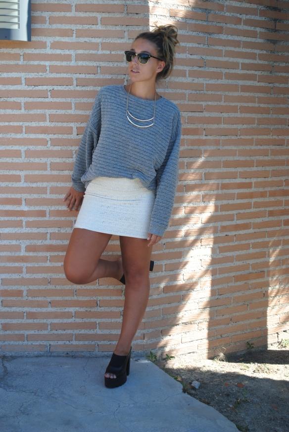 minifalda encaje blanca