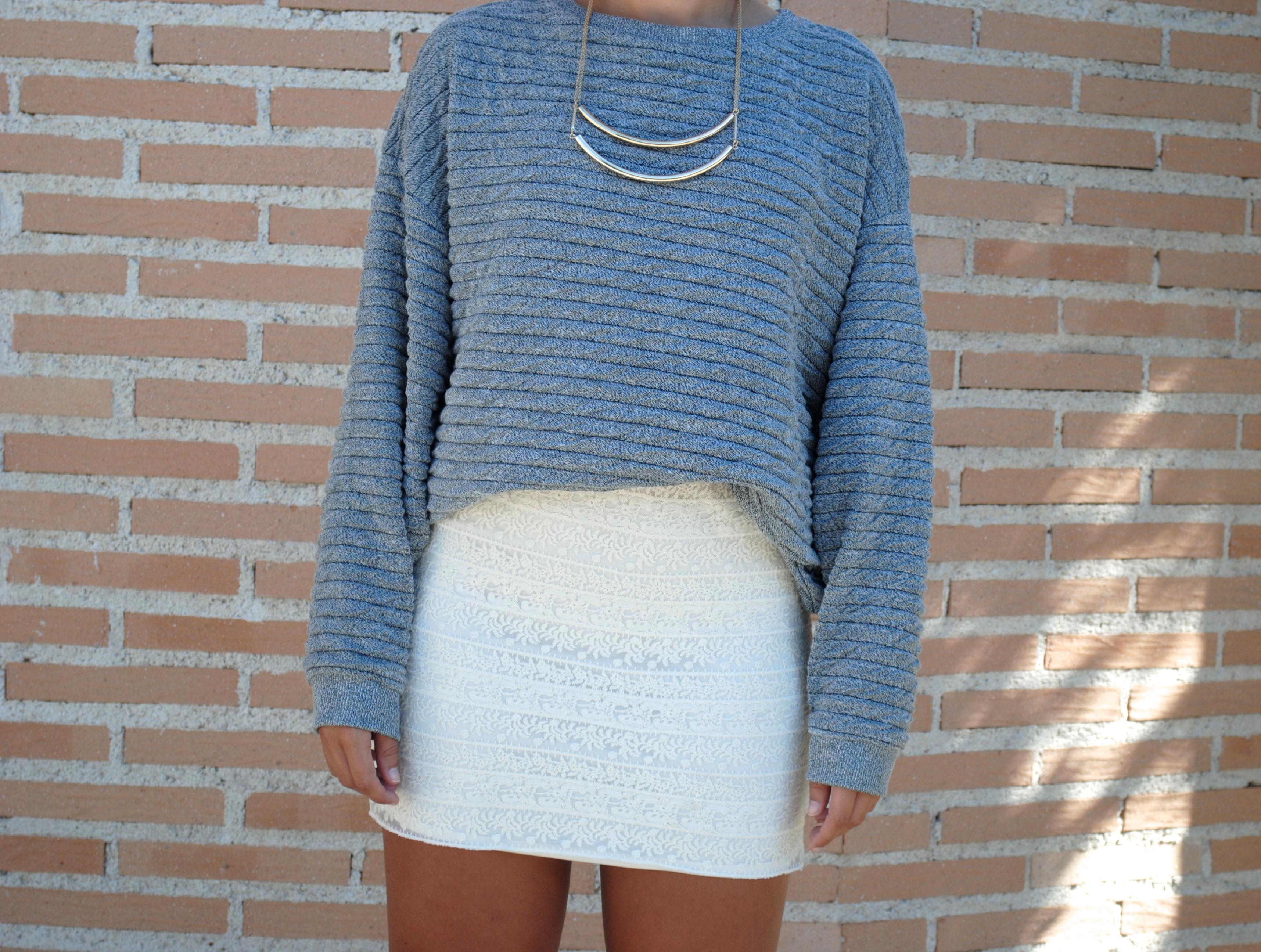 white lace miniskirt
