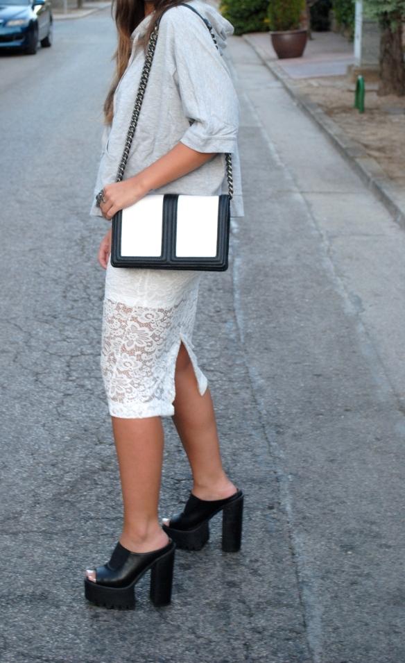 bolso blanco y negro