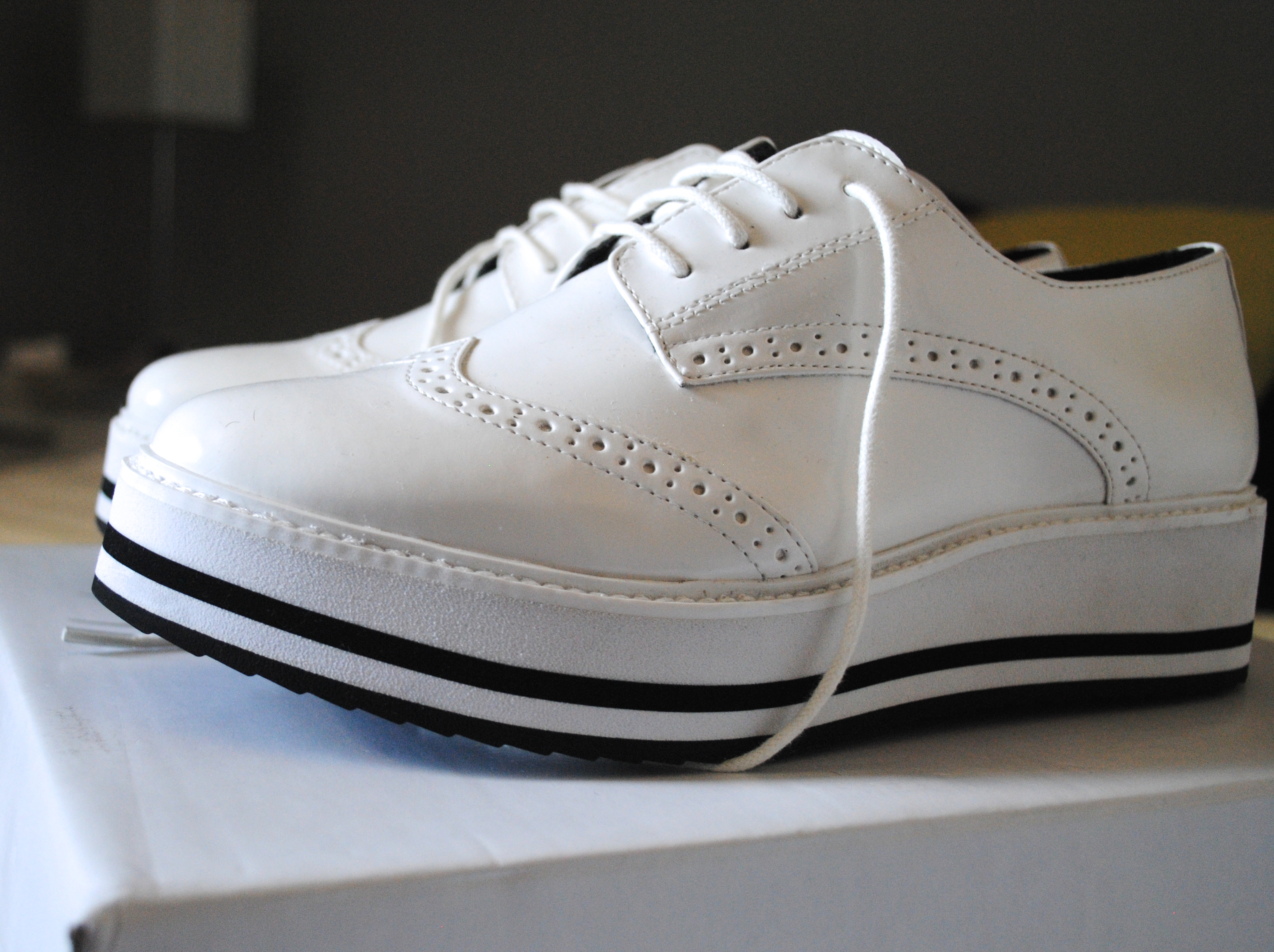 monochrome oxford shoes