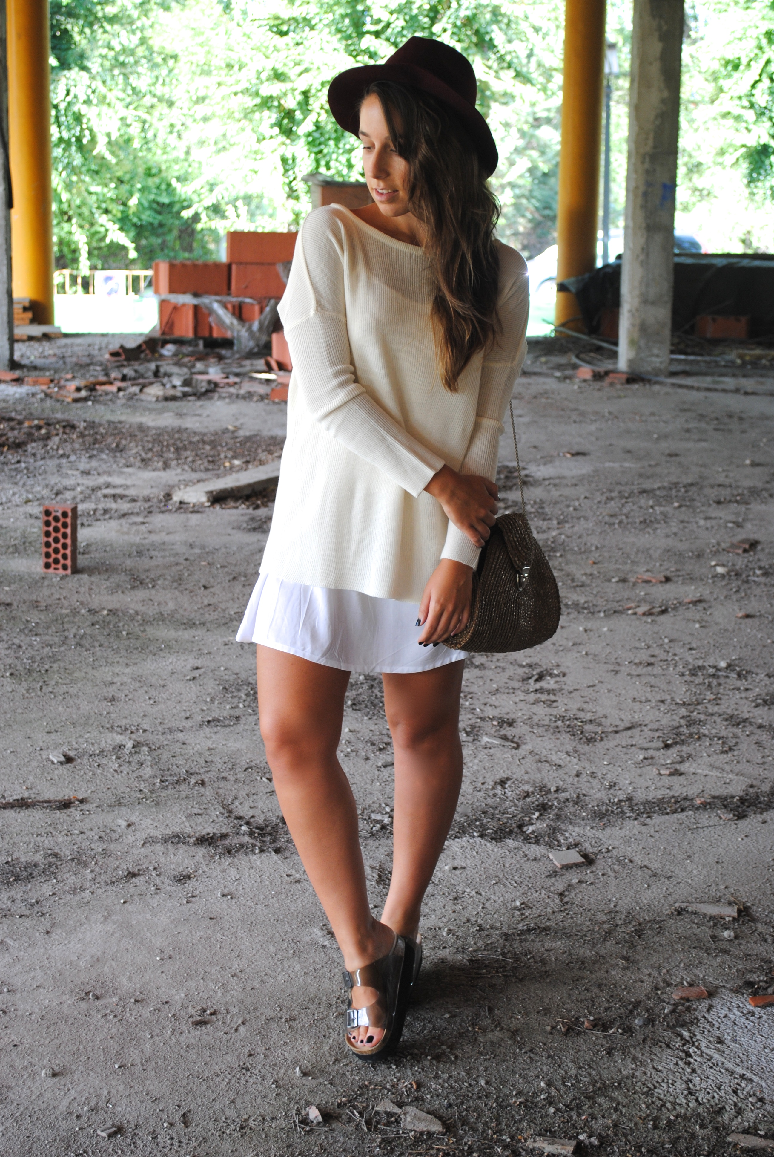 dress and sweater look