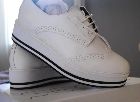 platform white brogues