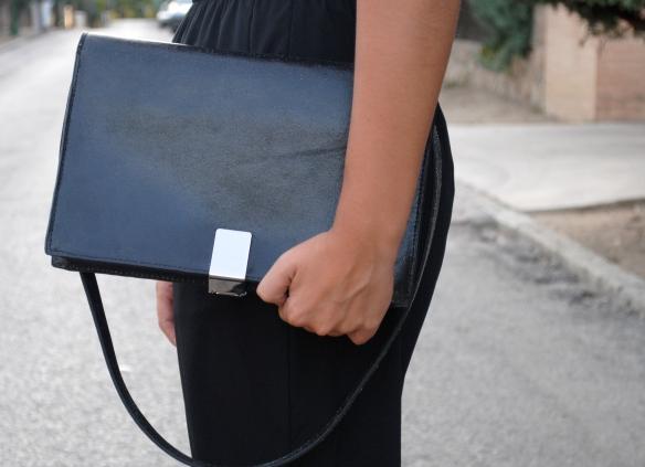 silver buckle bag