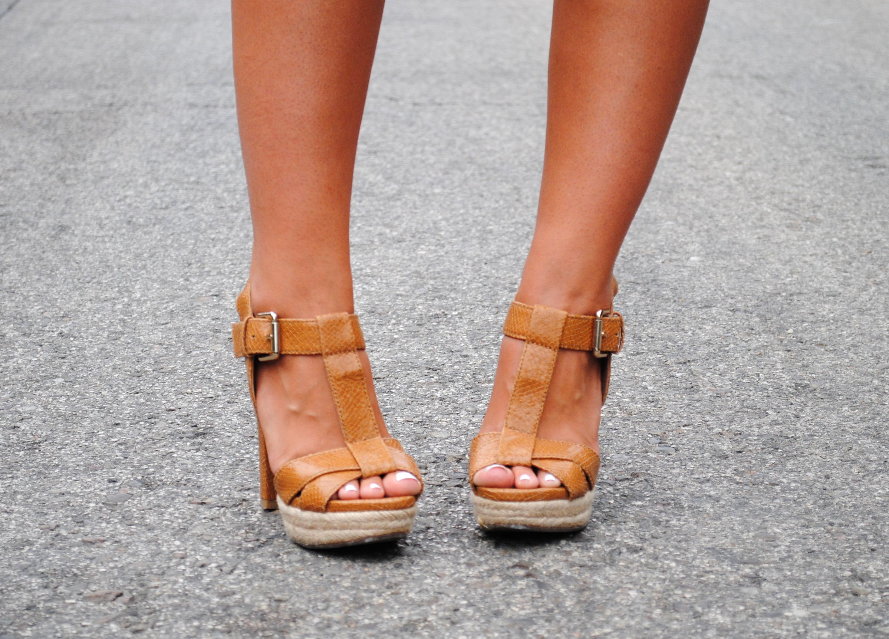 tan brown heel sandals