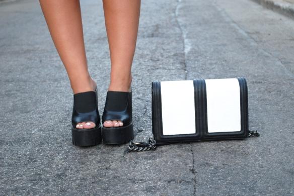 chunky heel mules