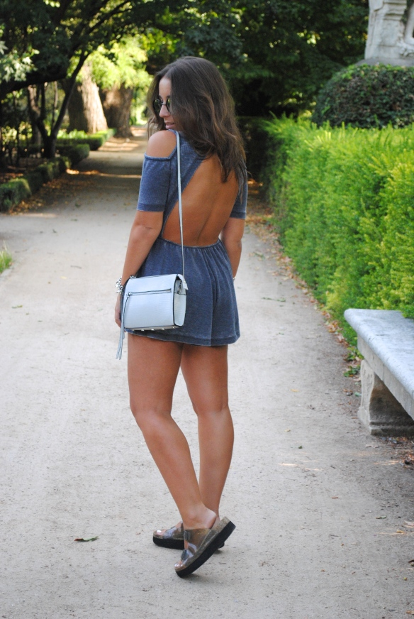 open back playsuit