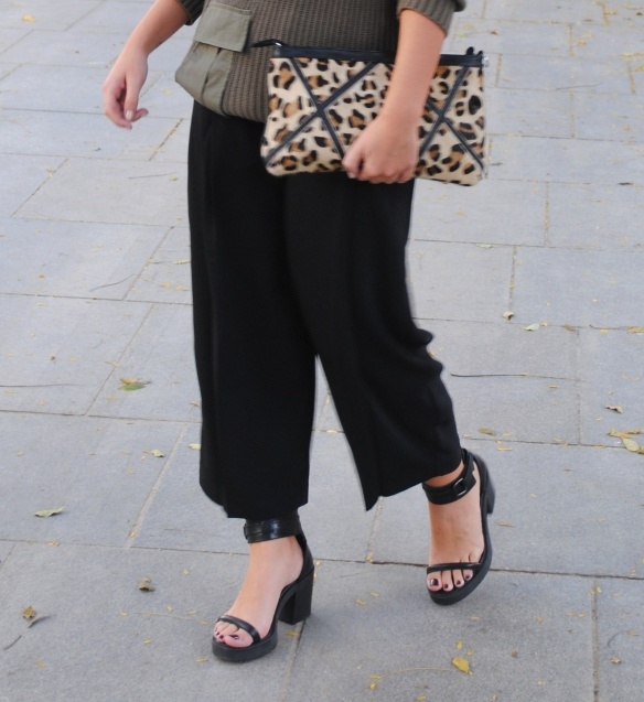 black culotte pants