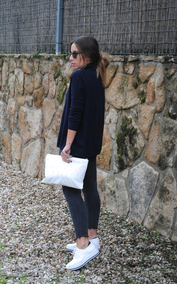 white clutch and shoes