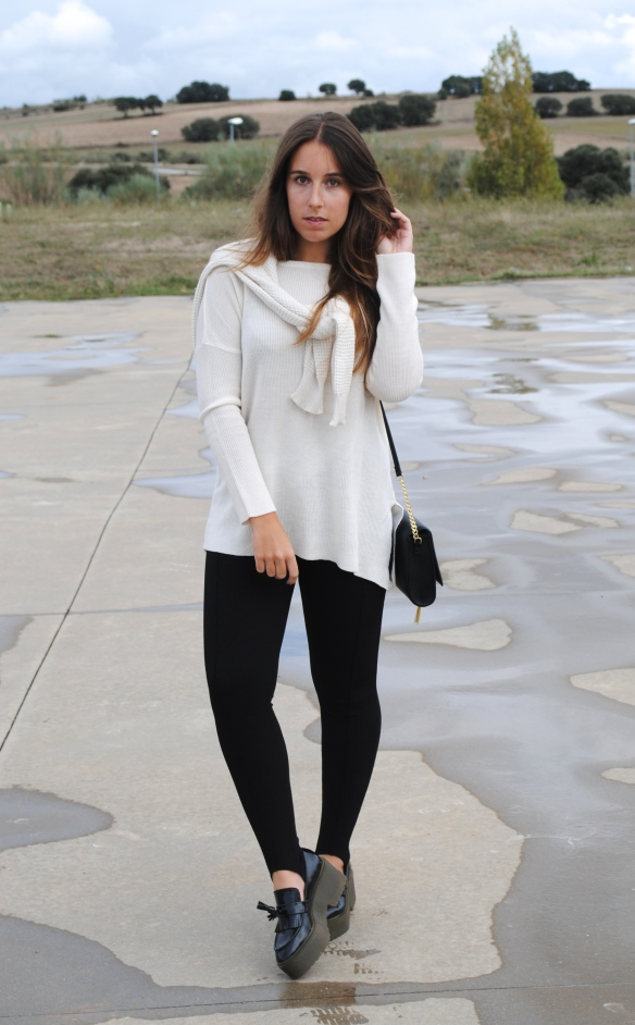 cream and black look
