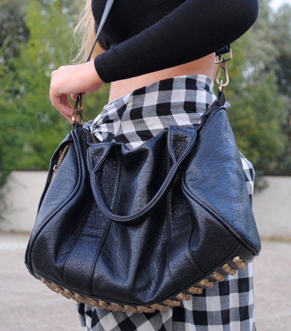 gold studded bag