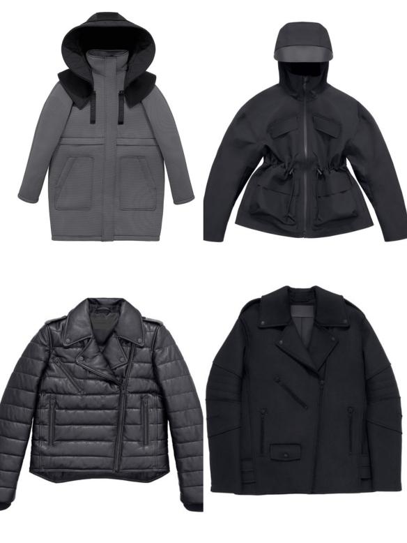 alexander wang x hm coats