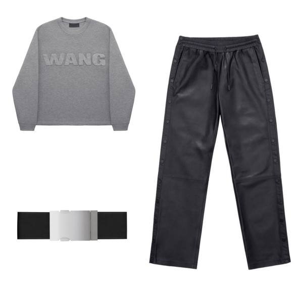 alexander wang leather pants