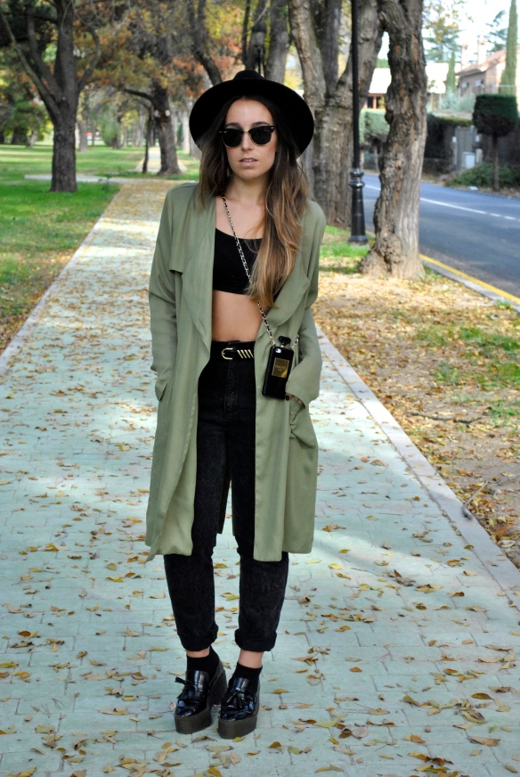 khaki green and black combination