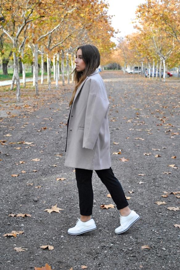 beige longline coat