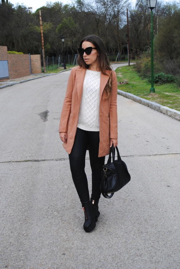 sheinside camel coat