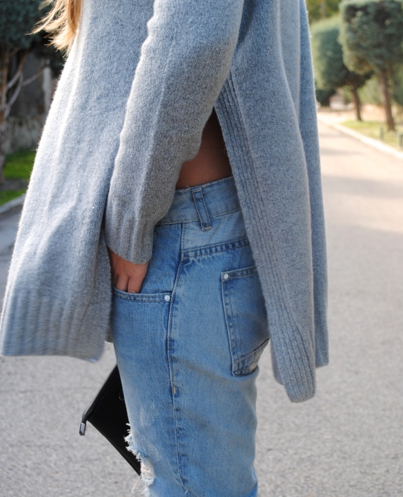 side slits sweater