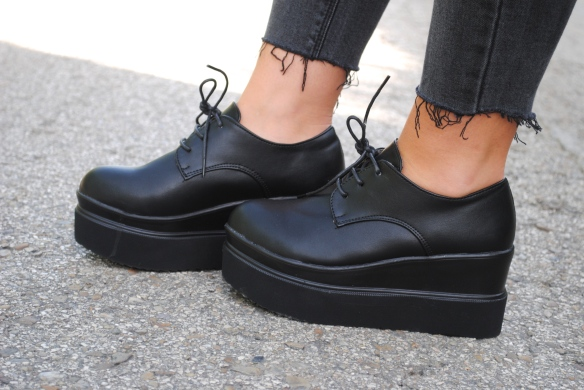platform lace up shoes