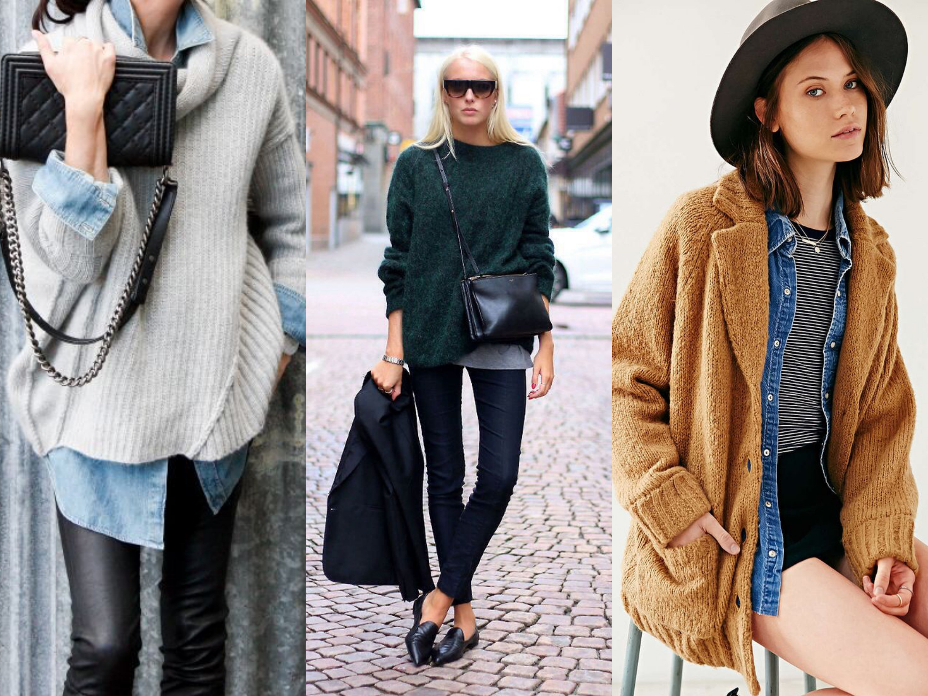 winter looks with layers