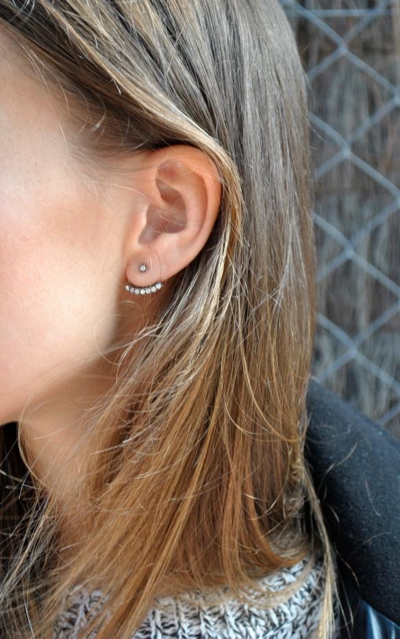 zara double earring