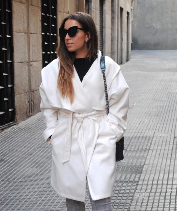 white maxi coat