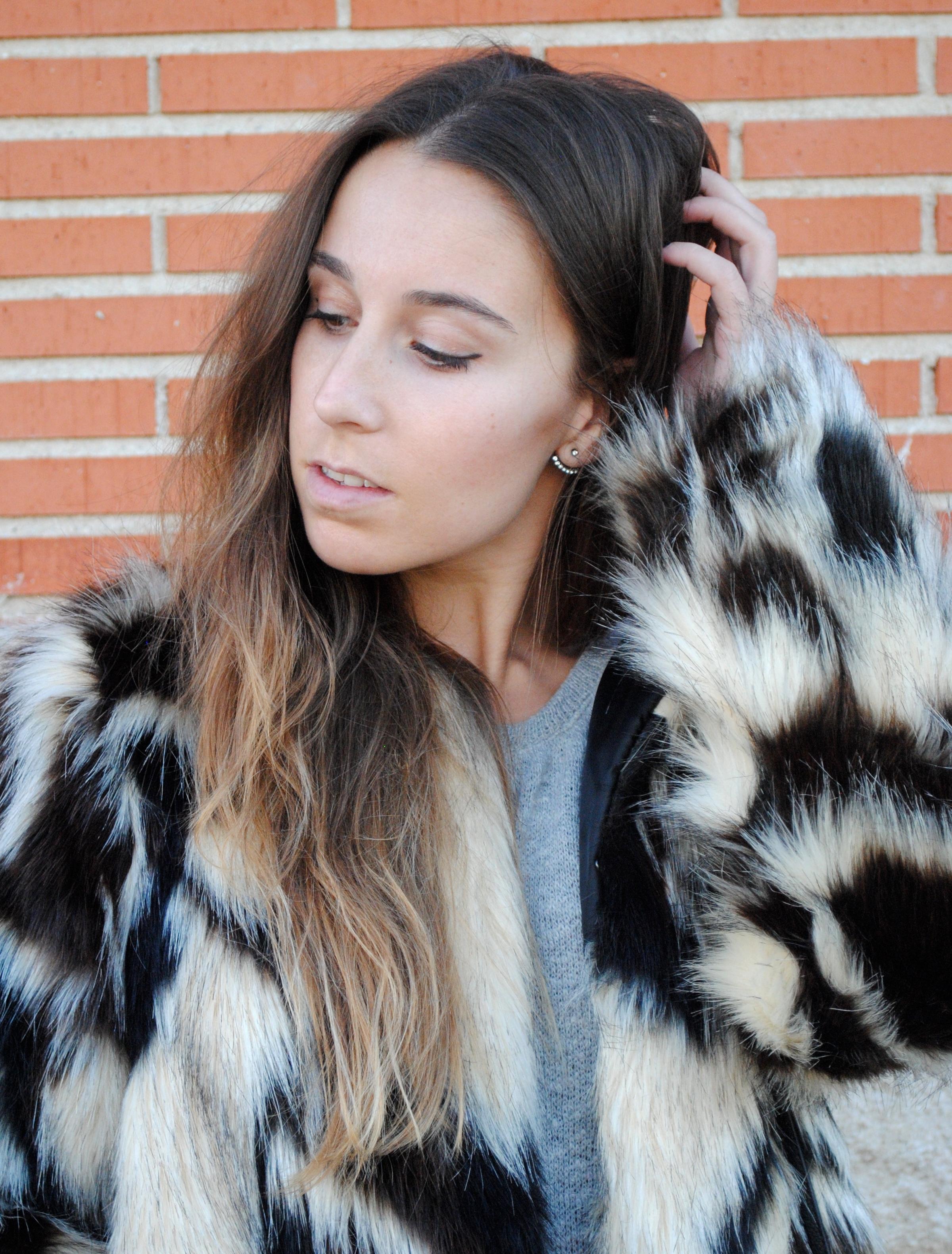 brown tones fur coat