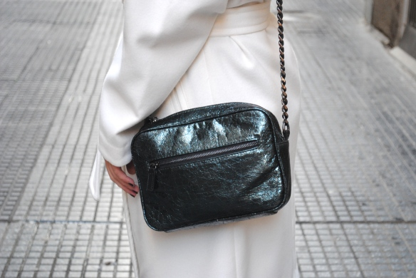 metallic green bag