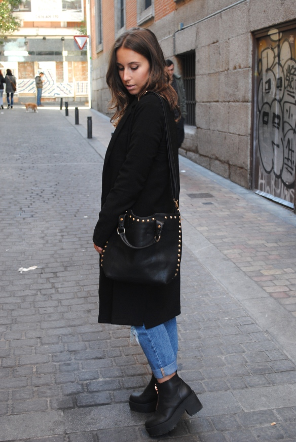 black long duster coat