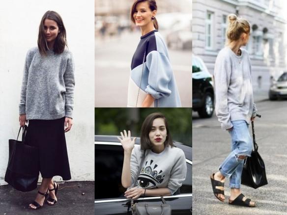 how to wear sweatshirts
