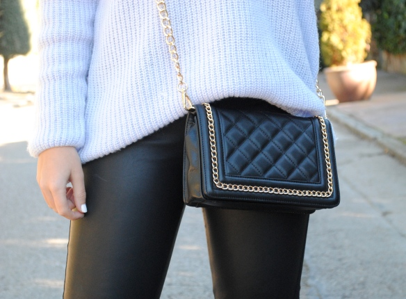 black quilted mini bag