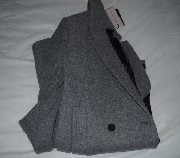 zara oversized grey coat