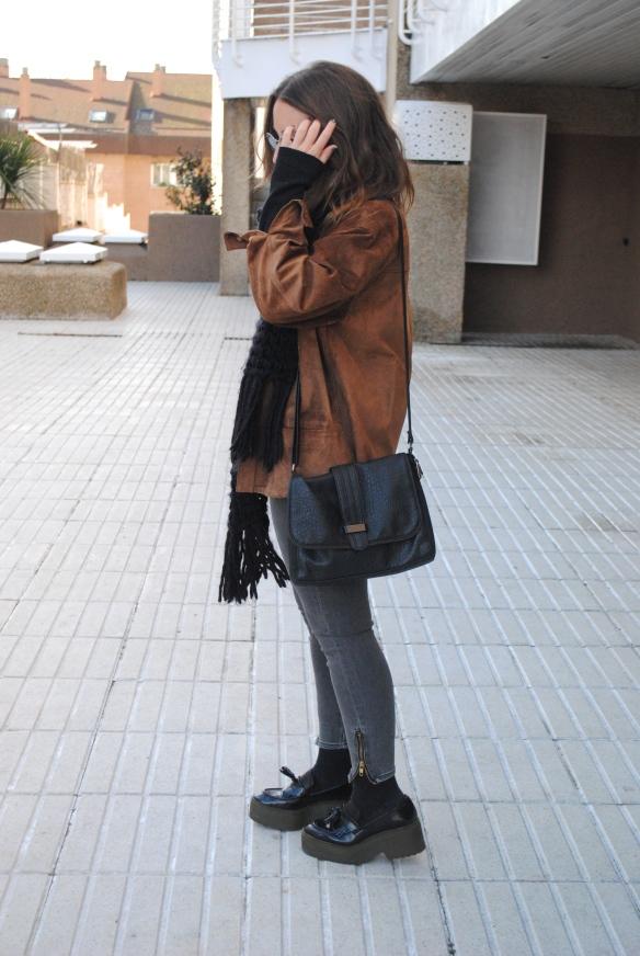 chaqueta ante vintage