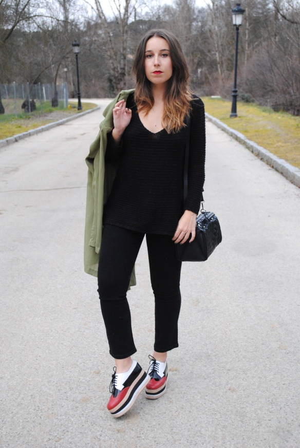 almost all black look